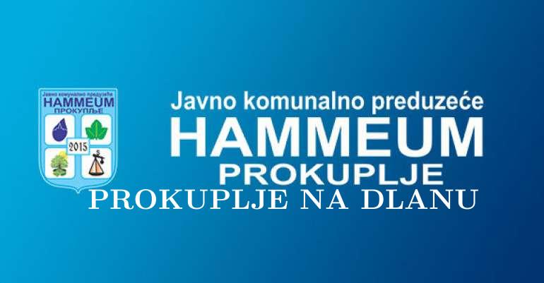 """ЈКП """"ХАМЕУМ"""": РАЦИОНАЛНО КОРИСТИТЕ ВОДУ!"""