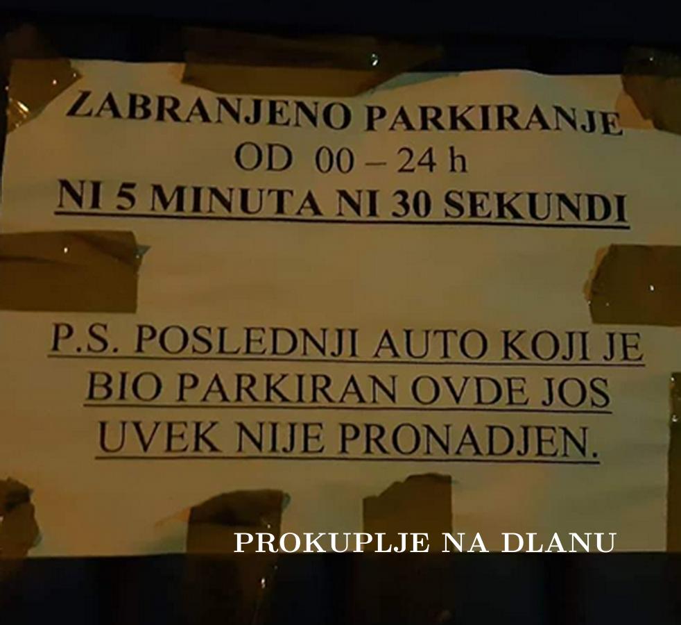 РАТ ОКО ПАРКИРАЊА СВЕ ЧЕШЋИ